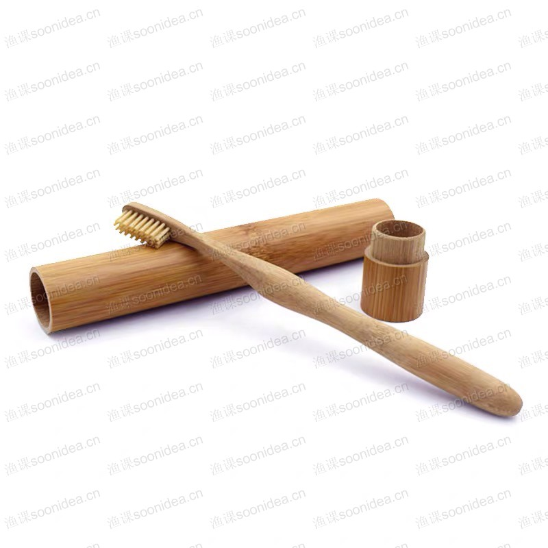 Premium Rounded Handle Bamboo Toothbrush